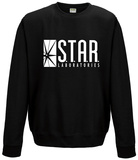 Crewneck Sweatshirt: The Flash- Star Labs Logo (Slim Fit) T-Shirts