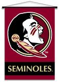 NCAA Florida State Seminoles Indoor Banner Scroll Pergamino