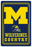 NCAA Michigan Wolverines Tin Sign