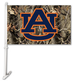 NCAA Auburn Tigers Realtree Camo Car Flag with Wall Bracket Flag