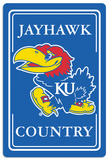 NCAA Kansas Jayhawks Tin Sign