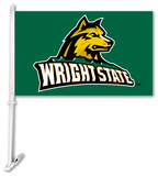 NCAA Wright State Raiders Car Flag with Wall Bracket Flag