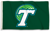 NCAA Tulane Green Wave Flag with Grommets Flag