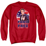 Crewneck Sweatshirt: Happy Days- Fonz For Prez T-Shirt