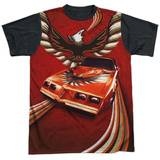 Pontiac- Firebird Phoenix Flight Black Back T-Shirt