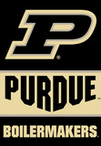 NCAA Purdue Boilermakers 2-Sided Banner with Pole Sleeve Flag