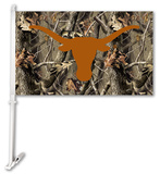 NCAA Texas Longhorns Realtree Camo Car Flag with Wall Bracket Flag