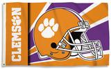 NCAA Clemson Tigers Helmet Design Flag with Grommets Flag