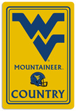 NCAA West Virginia Mountaineers Tin Sign