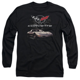 Long Sleeve: Chevrolet- Vette Checkered Style T-shirts