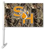 NCAA Sam Houston St. Bearkats Realtree Camo Car Flag with Wall Bracket Flag