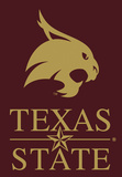 NCAA Texas State Bobcats 2-Sided Banner with Pole Sleeve Flag