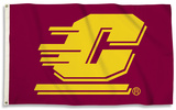 NCAA Central Michigan Chippewas Flag with Grommets Flag