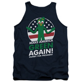 Tank Top: Gumby- For President, Make America Green Again Tank Top