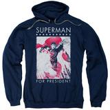 Hoodie: Superman- Hero For President Pullover Hoodie