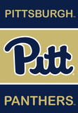 NCAA Pittsburgh Panthers 2-Sided Banner with Pole Sleeve Flag