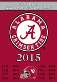 NCAA Alabama Crimson Tide Championship Years 2-Sided Banner with Pole Sleeve Flag