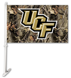 NCAA Central Florida Golden Knights Realtree Camo Car Flag with Wall Bracket Flag