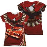 Juniors: Pontiac- Firebird Phoenix Flight (Front/Back) T-Shirt
