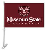 NCAA Missouri St. Bears Car Flag with Wall Bracket Flag