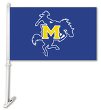 NCAA McNeese St. Cowboys Car Flag with Wall Bracket Flag