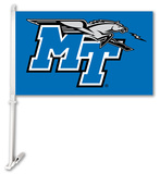 NCAA Middle Tennessee St. Blue Raiders Car Flag with Wall Bracket Flag