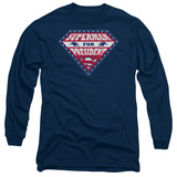 Long Sleeve: Superman- Superman For Preseident Shield T-shirts