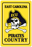 NCAA East Carolina Pirates Tin Sign