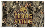 NCAA Texas State Bobcats Realtree Camo Flag with Grommets Flag