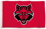 NCAA Arkansas State Red Wolves Flag with Grommets Flag