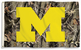 NCAA Michigan Wolverines Realtree Camo Flag with Grommets Flag