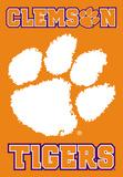 NCAA Clemson Tigers 2-Sided Banner with Pole Sleeve Flag