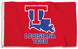 NCAA Louisianna Tech Bulldogs Flag with Grommets Flag