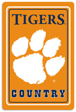 NCAA Clemson Tigers Tin Sign