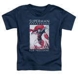 Toddler: Superman- Hero For President Shirt