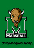 NCAA Marshall Thundering Herd 2-Sided Garden Flag Flag
