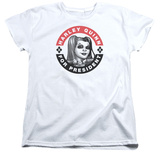 Womens: Harley Quinn- Election Button T-shirts