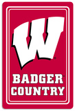 NCAA Wisconsin Badgers Tin Sign