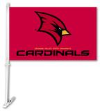 NCAA Saginaw Valley Cardinals Car Flag with Wall Bracket Flag