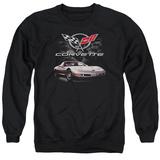 Crewneck Sweatshirt: Chevrolet- Vette Checkered Style T-Shirt