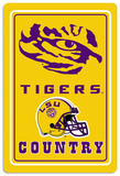 NCAA LSU Tigers Tin Sign