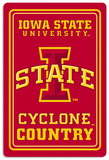 NCAA Iowa State Cyclones Tin Sign