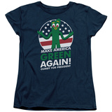 Womens: Gumby- For President, Make America Green Again Shirts