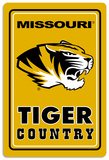 NCAA Missouri Tigers Tin Sign