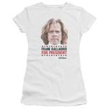 Juniors: Shameless- Frank For President T-Shirt