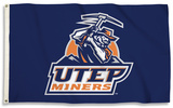 NCAA Texas El Paso Miners Flag with Grommets Flag