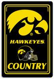 NCAA Iowa Hawkeyes Tin Sign