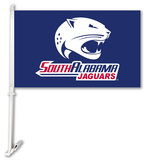 NCAA South Alabama Jaguars Car Flag with Wall Bracket Flag