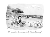 """We can do this the easy way or the Hitchcockian way."" - New Yorker Cartoon Premium Giclee Print by Tom Toro"
