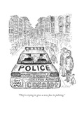 """They're trying to give a new face to policing."" - New Yorker Cartoon Giclee Print by Edward Koren"